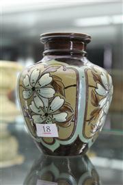 Sale 8324 - Lot 95 - Royal Doulton Vase Floral Panels