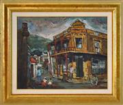 Sale 8411A - Lot 5065 - Gustav Beukes (XX) - Town Scene, 1973 39.5 x 49cm