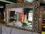 Sale 8601 - Lot 1186 - Large Pierced Frame Bevelled Edge Mirror (H:160 W:120cm)
