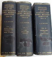 Sale 8639 - Lot 29 - Full Set of Three of The History of Australian Medical Services 1914-1918, by A G Butler, published by Australian War Memorial. Volu...