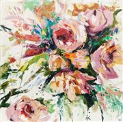 Sale 8652 - Lot 515 - Cheryl Cusick - Flora 100 x 100cm