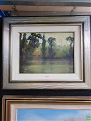 Sale 8645 - Lot 2010 - Marcia Rea - Moonlight oil on canvas board, 51 x 60.5cm, signed lower left