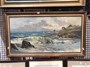 Sale 8797 - Lot 2049 - James Radford - Coastal Scene oil on board, 51.5 x 92cm, signed lower