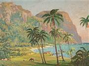 Sale 8867 - Lot 550 - John Allcot (1888 - 1973) - Tropical Bay, 1937 44.5 x 58.5cm