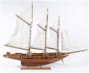 Sale 9007 - Lot 6 - Timber Model Boat W: 80cm