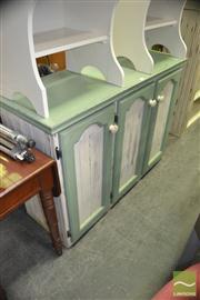 Sale 8440 - Lot 1090 - Painted 3 Door Cabinet