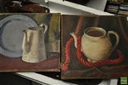 Sale 8495 - Lot 2066 - Artist Unknown (3 works) - Still Life 27 x 31.5cm; 30.5 x 26cm (2)