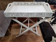 Sale 8688 - Lot 1017 - Timber Tray Table on Stand