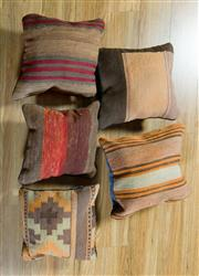 Sale 8717C - Lot 98 - 5 x Persian Kilim Cushions 40cm x 40cm