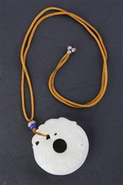 Sale 8802 - Lot 210 - White Dragon Ring Pendant