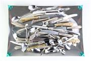 Sale 8894 - Lot 357 - Silverplated Tray Together with Assorted Cutlery