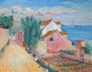 Sale 8938A - Lot 5055 - Dusan Kokotovic (1888 - 1953) - Croatian Village Scene 43 x 53 cm (frame: 63 x 73 x 5 cm)