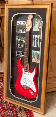 Sale 9060H - Lot 40 - Paul McCartney Memorabilia by True Blue Collectables, A squire bulletstrat by Fender electric guitar bearing signature with certific...