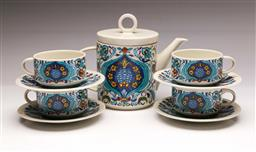 Sale 9104 - Lot 1 - Villeroy & Boch Izmir coffee set for four