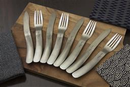 Sale 9240L - Lot 84 - 8-Piece Steak Knife Set - Matte - Laguiole Organique by Louis Thiers