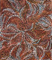 Sale 8301A - Lot 31 - Jeannie Petyarre (c1956 - ) - Bush Yam Leaves 95 x 85cm