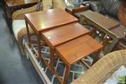 Sale 8326 - Lot 1013 - Teak 1960s Nest of Three Tables