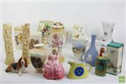 Sale 8490 - Lot 287 - Royal Doulton Rose Figure With Other Ceramics incl Lladro Ducks And Carved Asian Bone Figures