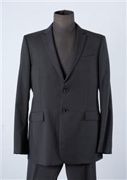 Sale 8770F - Lot 57 - A Burberry, London classic black two buttoned suit, including jacket (size 56) and trousers (marked 56R - 40R)