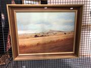 Sale 8836 - Lot 2020 - W J Spencer - Rainy Weather, oil on board, frame size - 57 x 72.5cm, signed lower right