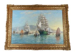 Sale 9150J - Lot 64 - JOHN SUTTON (1935 - ) The Clipper ship oil on canvas signed. 61 x 92 cm. Sutton is a known East Anglian landscape and marine paint...