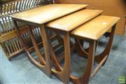 Sale 8326 - Lot 1063 - G-Plan Teak Nest of Three Tables