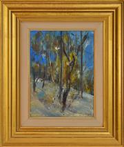 Sale 8325 - Lot 501 - Jamie Boyd (1948 - ) - Landscape with Bird 29.5 x 22cm