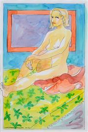 Sale 8411A - Lot 5088 - Christabel Blackman (1959 - ) - Seated Nude, 2013 41 x 28cm