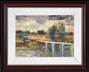 Sale 8401 - Lot 579 - George Feather Lawrence (1901 - 1981) - The Bridge, 1958 27 x 37cm