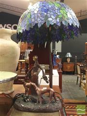 Sale 8412 - Lot 1065 - Cast Metal Figural Base Table Lamp