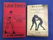 Sale 8450S - Lot 756 - Gene Tunney - a first edition of his biography by Nat Fleischer (The Ring 1931); t/w Boxing by Jack OBrien (Scribners 1928)