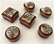 Sale 8436A - Lot 26 - Six Satsuma lidded boxes.