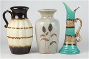 Sale 8448 - Lot 100 - German Vases with an Israeli Jug