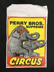 Sale 8539M - Lot 2 - Perry Bros. Supreme Circus. Depicting elephants. Original poster by Ballina Printers, 54 x 35cm
