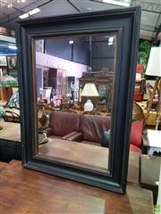 Sale 8601 - Lot 1157 - Black Painted Timber Framed Mirror