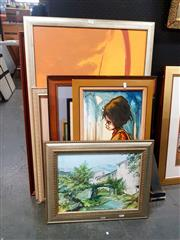 Sale 8671 - Lot 2052 - Collection of Various Paintings & Print, Various Media, Various Sizes (10) -
