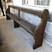 Sale 8795K - Lot 76 - A timber church pew