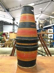 Sale 8851 - Lot 1035 - Tapering Tribal Drum