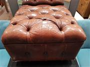 Sale 8934 - Lot 1031 - Leather Buttoned Ottoman