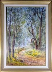 Sale 9002A - Lot 5045 - Brad Boyd (1946 - ) - End of the Line, Glenburn VIC 90 x 60 cm