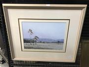 Sale 9024 - Lot 2010 - Howard B Ireland Moon Glow, Mudgee oil on canvas board, 61 x 51cm (frame)