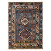 Sale 9061C - Lot 32 - Antique Caucasian Karabagh, Circa 1940, 125x175cm, Handspun Wool