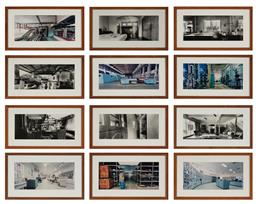 Sale 9161 - Lot 562 - SIMRYN GIL (1959 - ) (12 works) Standing Still Series c-type photograph 19 x 42 cm each (frame: 33 x 55 x 2 cm)
