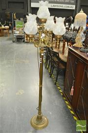 Sale 8431 - Lot 1007 - Brass Candelabrum with Five Arms