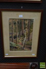 Sale 8471 - Lot 2014 - C20th European School - Untitled, 1914 (Travelling Through the Forest) 30 x 20.5cm