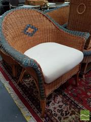 Sale 8469 - Lot 1050 - Pair of Cane Armchairs