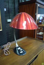 Sale 8550 - Lot 1030 - Vintage Desk Lamp Red shade