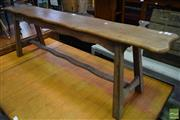 Sale 8542 - Lot 1098 - French Oak Joint Three Seater Bench