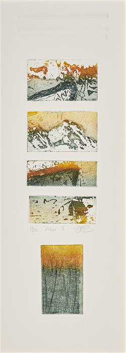 Sale 9096A - Lot 5095 - Ellis Gaye - Aoa II 35.5 x 11 cm (frame: 80 x 49 x 3 cm)