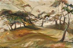 Sale 9252A - Lot 5062 - CHRISTINA COOMBES Undulating Landscape oil on board 59.5 x 90 cm (frame: 76 x 105 x 3 cm) signed lower left